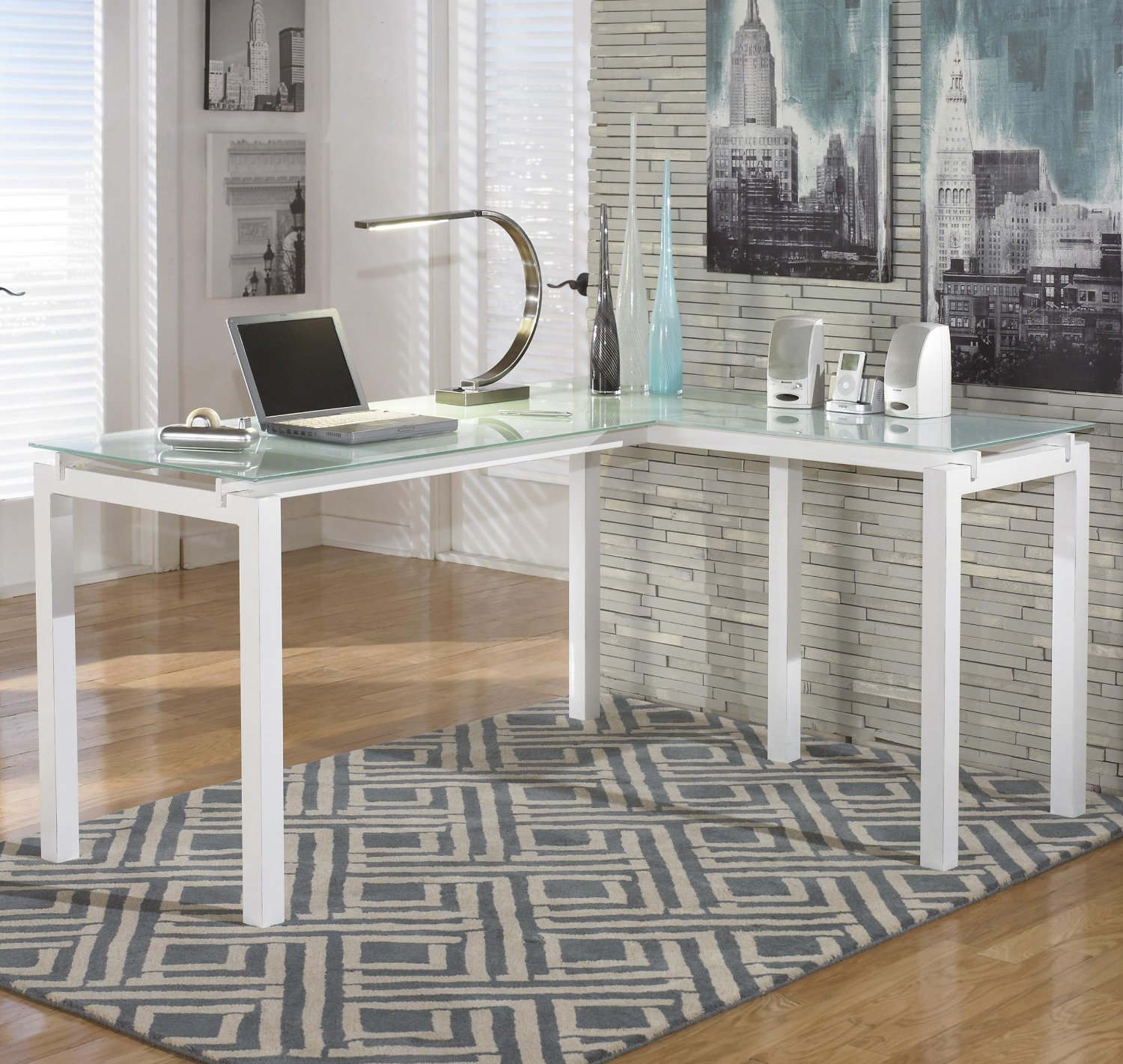 Signature design L shaped home office desk