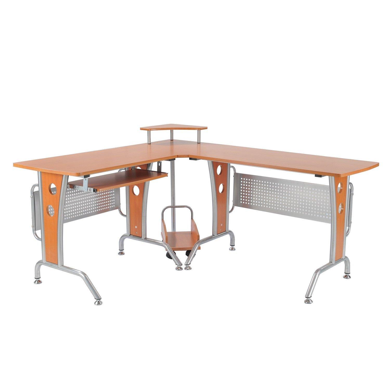 Modern L-shaped workstation