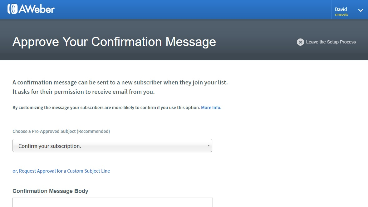 Allow subscribers to confirm opt-in