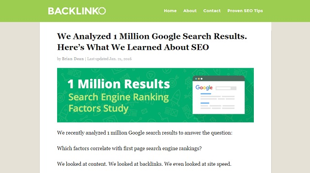 Backlinko SEO blog