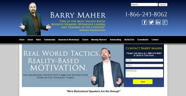 Speaker Barry Maher relies on word of mouth marketing