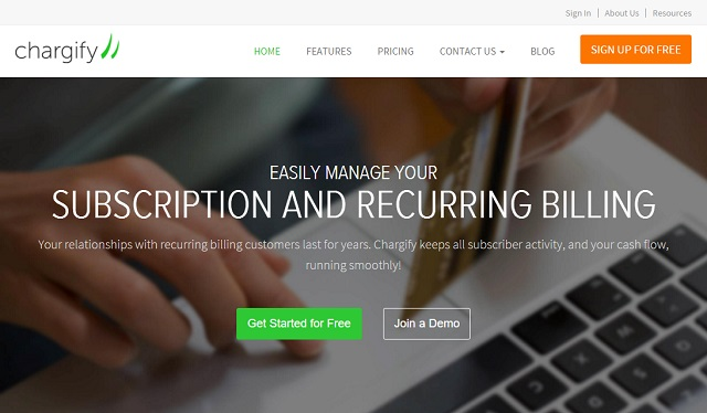 Chargify helps with managing recurring payments and billing
