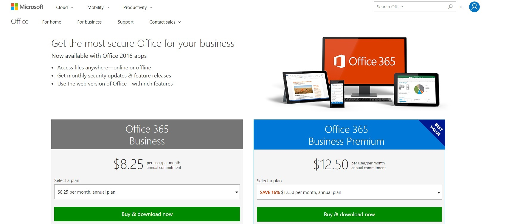 Microsoft Office 365 Business Software