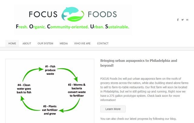 Focus foods use sustainable aquaponics