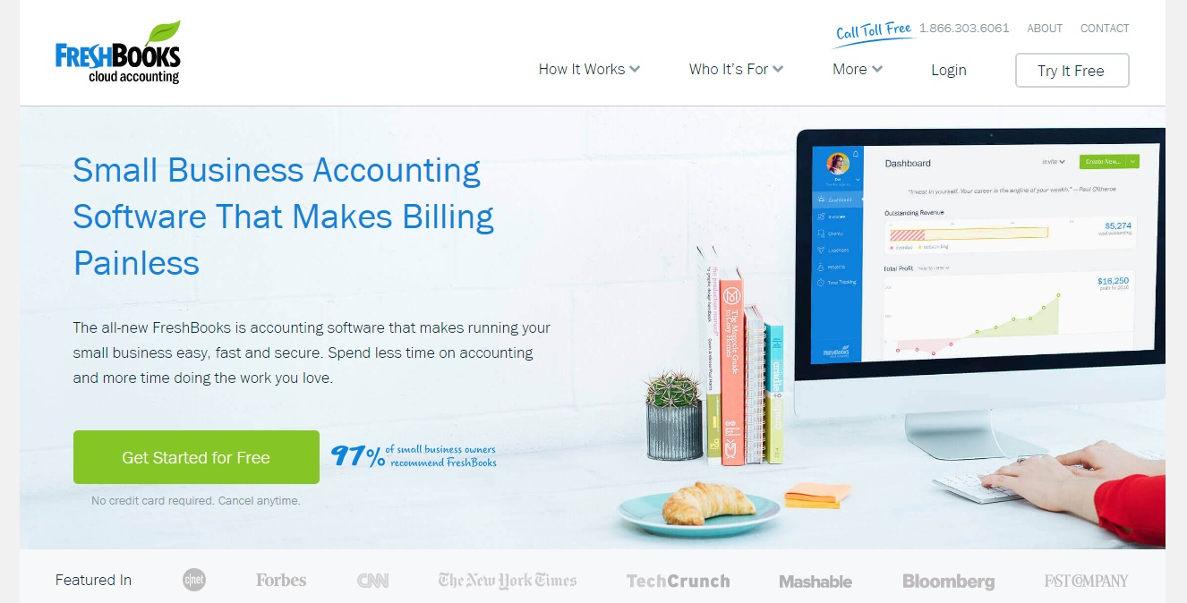 Freshbooks cloud accounting for SMBs