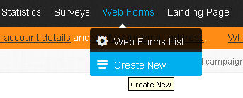Create a new mailing list signup form in GetResponse
