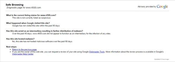 Google safebrowsing