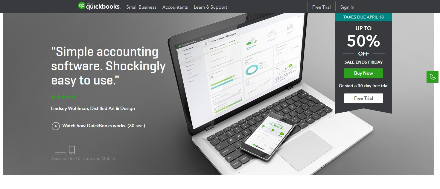 Quickbooks cloud accounting for SMBs
