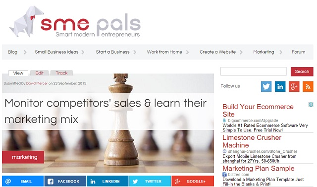 How to monitor competitors sales