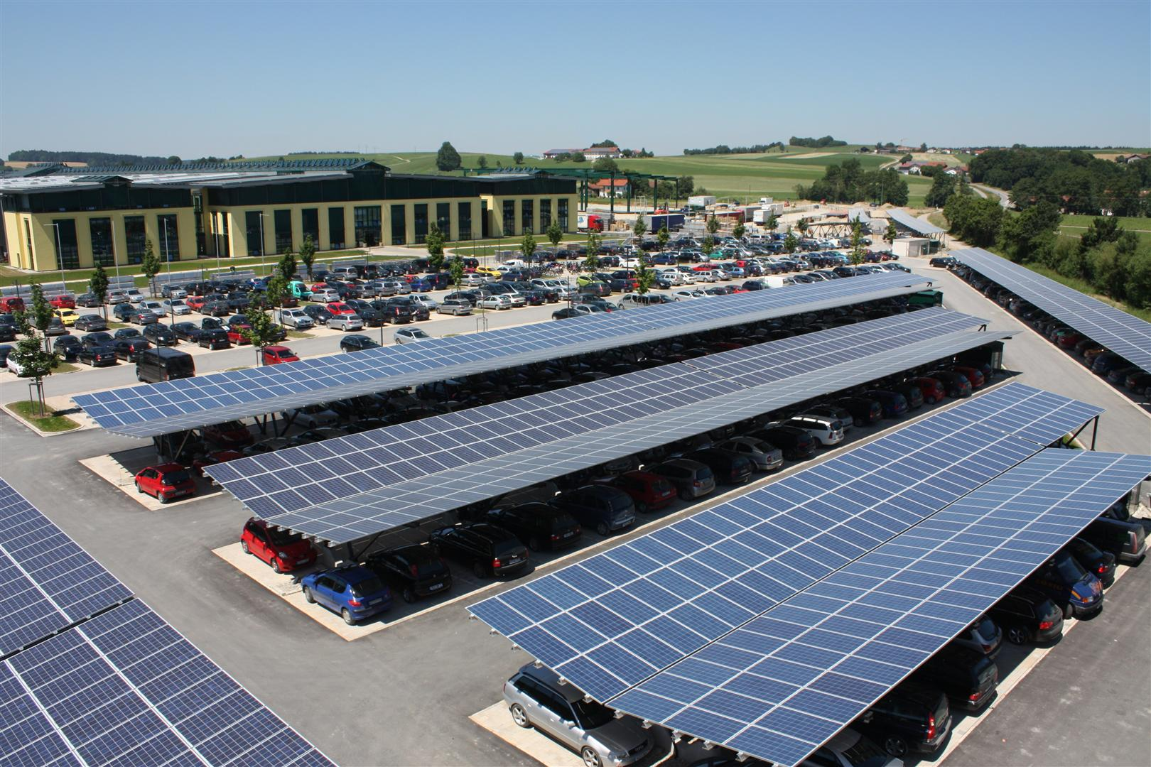 Companies are powering themselves with solar panels in their car parks