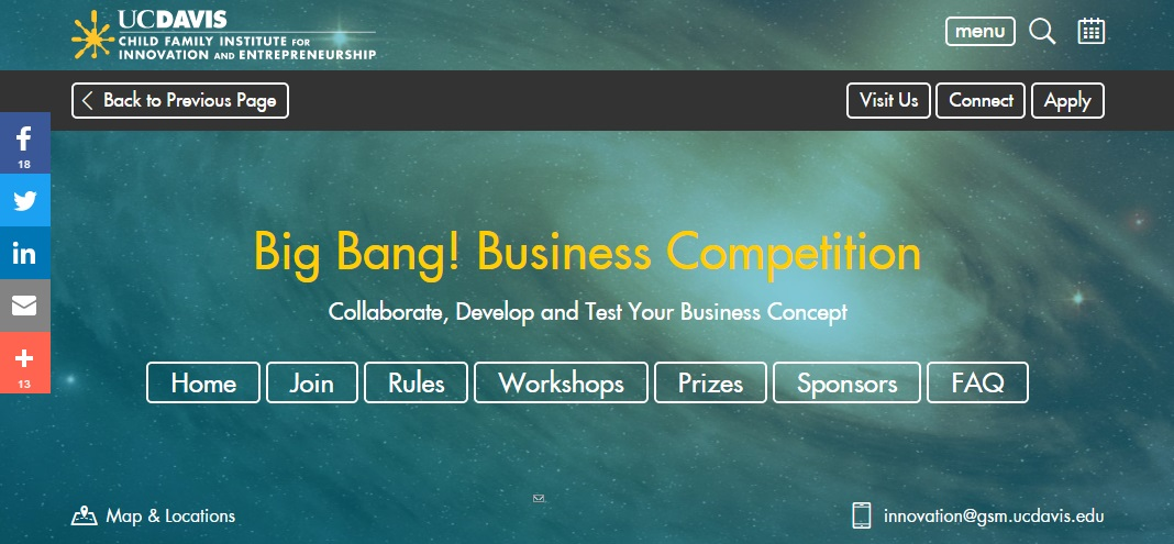 UCDavid Big Bang business competition