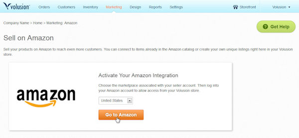 How to activate Amazon integration in Volusion